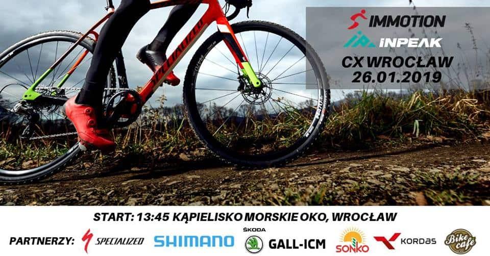 wyscig rowerowy kolarski mtb przelaj immotion inpeak cx wroclaw 2019